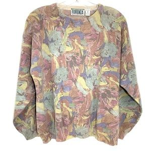Forenza Lambs wool blend vintage floral sweater